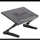 [ОПТ] Регульована підставка для ноутбука AirSpace з вентилятором. Стіл для ноутбука AirSpace з вентилятором, фото 2