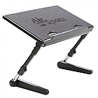 [ОПТ] Регульована підставка для ноутбука AirSpace з вентилятором. Стіл для ноутбука AirSpace з вентилятором, фото 4