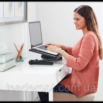 [ОПТ] Регульована підставка для ноутбука AirSpace з вентилятором. Стіл для ноутбука AirSpace з вентилятором
