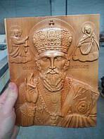 Икона резьба по дереву Святой Николай Чудотворец