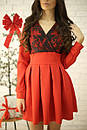 Платье с кружевным верхом и пышной юбкой 52py536, фото 2