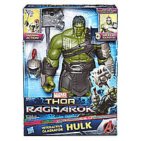 """Интерактивная фигура Халк гладиатор из к\ф """"Тор: Рагнарок"""", 35см - Hulk, Gladiator, Interactive, Hasbro"""
