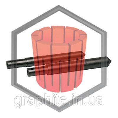 Шток графитовый Galloni 15,8mm 17,8mm