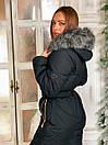 Женский зимний комбинезон с капюшоном и меховой опушкой 41gk39, фото 5