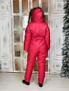 Женский зимний комбинезон с капюшоном и меховой опушкой 41gk39, фото 6