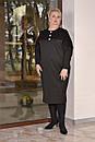 Платье миди в больших размерах из трикотажа плотного с вставками гипюра 10ba447, фото 2