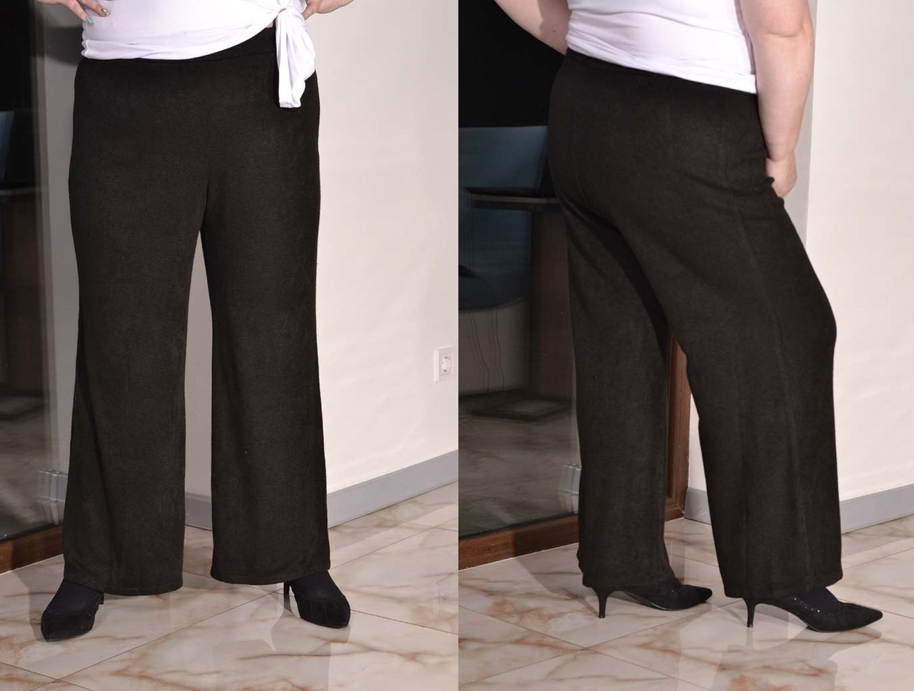 Ангоровые женские брюки клеш в больших размерах 10ba448