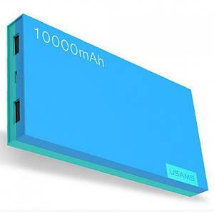 УМБ Usams  Power Bank 10000 mah Голубой/Желтый/Серый