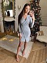 Платье из трикотажа с блестящим напылением и имитацией запаха 73plt504, фото 3