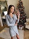 Платье из трикотажа с блестящим напылением и имитацией запаха 73plt504, фото 4