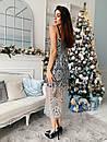 Гипюровое платье с блестками на подкладе и на бретельках 73plt506, фото 3