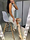 Платье из пайетки хамелеон на подкладе с разрезом на ноге 20plt510, фото 5