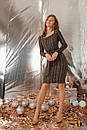 Ангоровое платье с вырезом декольте и поясом на талии 31plt513, фото 3