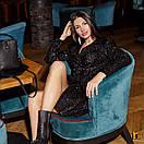 Буклированное платье - пиджак черное с длинным рукавом 31plt514, фото 2