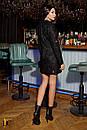 Буклированное платье - пиджак черное с длинным рукавом 31plt514, фото 3