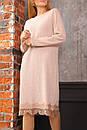 Свободное трикотажное платье с отделкой из кружева и длинным рукавом 63plt516, фото 2