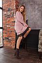 Свободное трикотажное платье с отделкой из кружева и длинным рукавом 63plt516, фото 3