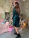 Вельветовое платье рубашка с асимметричной юбкой и длинным рукавом 63plt518, фото 4