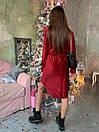 Вельветовое платье рубашка с асимметричной юбкой и длинным рукавом 63plt518, фото 5