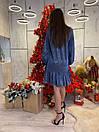 Платье свободное из люрекса с оборками и длинным рукавом 63plt520, фото 4