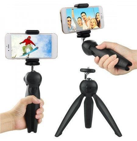 Настольный штатив для крепления камер и смартфонов YT-228 Черный