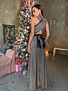 Длинное платье трансформер из люрекса хамелеон 63plt523, фото 2