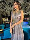 Длинное платье трансформер из люрекса хамелеон 63plt523, фото 3