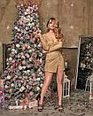 Блестящее платье с люрексом на запах с длинным рукавом 60plt524, фото 3