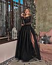 Платье макси с пышной фатиновой юбкой и кружевным верхом с открытой спиной 60plt525, фото 2
