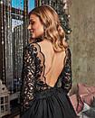 Платье макси с пышной фатиновой юбкой и кружевным верхом с открытой спиной 60plt525, фото 5