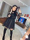 Платье с сеткой в горошек и пышной юбкой 16plt532, фото 2