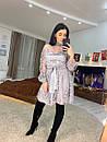Платье с сеткой в горошек и пышной юбкой 16plt532, фото 3