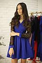 Платье с расклешенной юбкой и рукавом из сетки в горошек 52plt534, фото 2