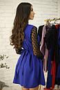 Платье с расклешенной юбкой и рукавом из сетки в горошек 52plt534, фото 7