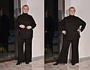 Женский ангоровый брючный костюм в больших размерах с брюками клеш 10ba450, фото 2
