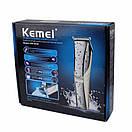 Машинка для стрижки аккумуляторная Kemei Km-5018, фото 6