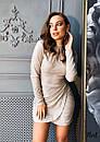 Мерцающее платье с вырезом - каплей и асимметричной юбкой 36plt556, фото 3