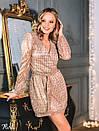 Платье из мерцающей сетки в пайетку с верхом на запах и длинным рукавом 36plt552, фото 3