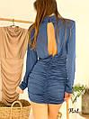 Платье с присобранной юбкой и вырезом на спине 36plt553, фото 5