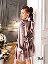 Бархатное плате с расклешенной юбкой и длинным рукавом - фонариком 36plt555, фото 2