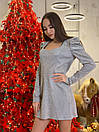 Женский комбинезон из люрекса с рукавом фонариком 63kos371, фото 2