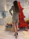 Женский комбинезон из люрекса с рукавом фонариком 63kos371, фото 3