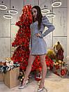 Женский комбинезон из люрекса с рукавом фонариком 63kos371, фото 4