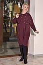 Женское платье из стрейчевой ангоры в больших размерах с асимметрией 10blr445, фото 2