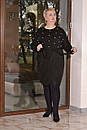 Женское платье из стрейчевой ангоры в больших размерах с асимметрией 10blr445, фото 3