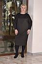 Трикотажное платье балахон в больших размерах с рукавом летучая мышь 10blr446, фото 2