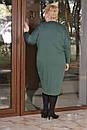 Трикотажное платье балахон в больших размерах с рукавом летучая мышь 10blr446, фото 4