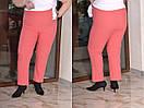 Женские зауженные брюки в больших размерах из костюмки 10blr449, фото 2