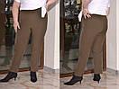 Женские зауженные брюки в больших размерах из костюмки 10blr449, фото 3