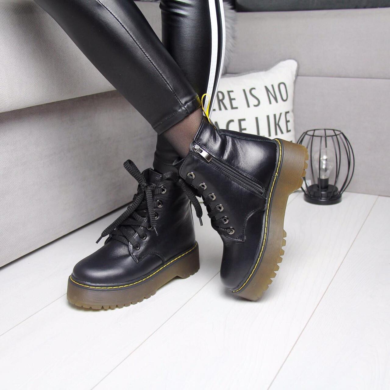 Женские натуральные ботинки на шнуровке невысокие 74OB13